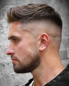 Quiff Haircut, Quiff Hairstyles, Cool Hairstyles, Latest Hairstyles, Hairstyle Ideas, Hairstyle Men, Short Hairstyles For Men, Military Hairstyles, Viking Hairstyles