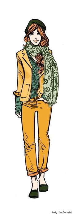 Andy MacDonald Fashions New Looks for the X-Men Cute Fashion, Fashion Art, Outfits For Teens, Trendy Outfits, Andy Macdonald, Man Sketch, Superhero Villains, Sketches Of People, Kids Wardrobe