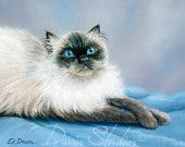 Himalayan Cat painting art print of original oil painting by artist, Eleanor Davin