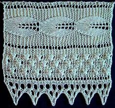 Free Knitting Pattern: Leaf and Berry Pattern Lace c1898