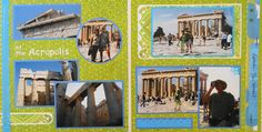 Athens travel scrapbook 2 page layout of the acropolis - from Travel Album 10 - Athens, Greece.