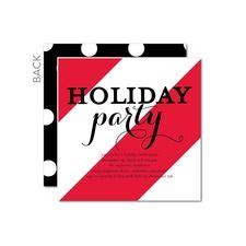 Seasonal Striping Party Invitations