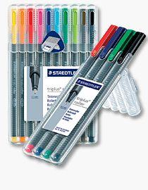 Triplus Staedtler 403/SB4/Triplus Roller Lot de 4 stylos 0,4/mm