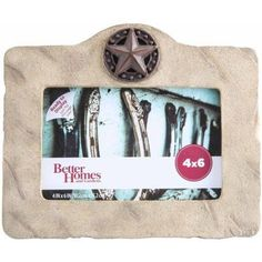 Better Homes and Gardens 4 inch x 6 inch Texas Star Picture Frame, Beige