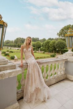 How Romantic is this Champagne Gown from Lian Rokman's 2017 Collection?…