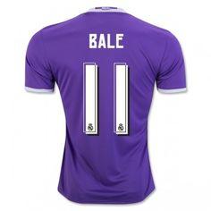 c2c50e0ad0f46 Real Madrid 16-17 Gareth Bale 11 Bortatröja Kortärmad #Fotbollströjor