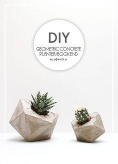 DIY Geometric Concrete Planter Tutorial