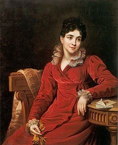 1820s Countess Praskovya Petrovna Kutaisov, née Lopukhin by Johann Rombauer (location unknown to gogm)