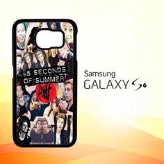 5 seconds of summer 5sos collage luke hemmings V1355 Samsung Galaxy S6 Case