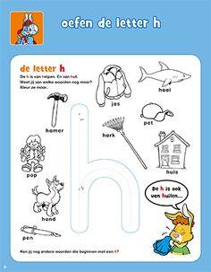 Oefen de letter h - Bobo Dyslexia, Afrikaans, Growing Up, Worksheets, Alphabet, Teaching, How To Plan, School, Dutch