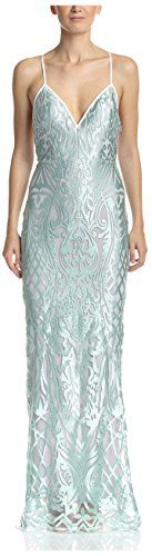 ABS by Allen Schwartz Womens Long Lace Gown Seafoam 8 US *** Check out the image by visiting the link.