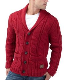 Joe Browns Men's Luxury Cable Shawl Cardigan