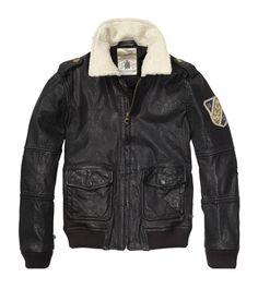Scotch & Soda Shrunk Genuine Leather Jacket