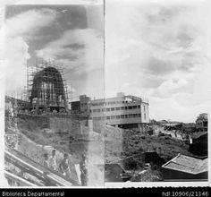 PEDRO ANTONIO RIASCOS. Construcción santuario de la Virgen de Fátima, Cali 1950. OTRO: Biblioteca Departamental Jorge Garces Borrero, 1950. 15 X 16.