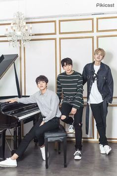 Wonpil, Sungjin, and Jae Park Sung Jin, Warner Music, Jae Day6, Young K, Bob The Builder, Fandom, Korean Bands, Korean Artist, K Idols