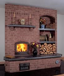 Russian masonry stove...I like the wood storage