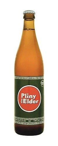 Cerveja Russian River Pliny the Elder, estilo Imperial / Double IPA, produzida por Russian River Brewing, Estados Unidos. 8% ABV de álcool.