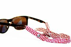 CottonSnaps Sunglass Straps- Inspired by the colors of Florida State. This chevron snap will go perfect at any tailgating or sporting event supporting your Florida State Seminoles. - Cotton constructi