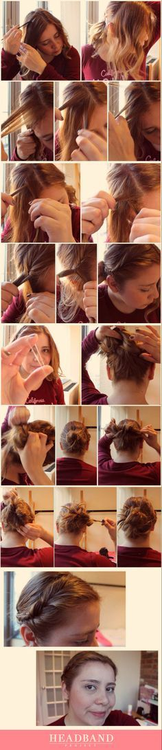 Easy Updo For Medium Hair - Tutorial
