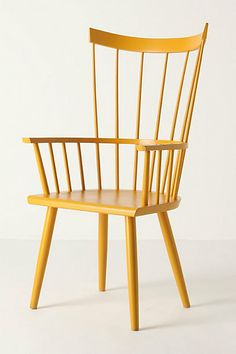 """Side view, Dalloway armchair, Anthropologie. 44""""h x 21.5""""w x 19""""d"""