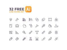 Free 32 Line icons Set