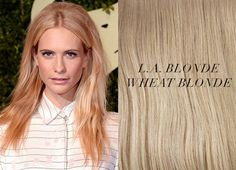 Blonde Hair Extensions Shades Inspirations from Celebrities Long hair extensions in Wheat Blonde for trendy hair colors 2014