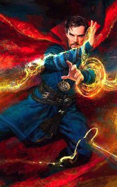 Doctor Strange casting a spell.