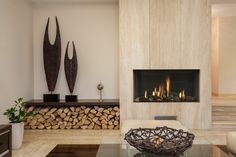 salones modernos con chimeneas