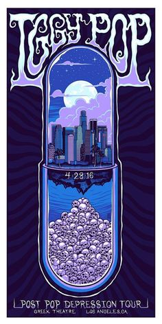 Iggy Pop's Post Pop Depression Tour (2016) poster.
