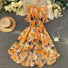 Cute Casual Outfits, Pretty Outfits, Pretty Dresses, Long Casual Dresses, Girls Fashion Clothes, Fashion Dresses, Vestidos Country, Girls Dresses, Summer Dresses