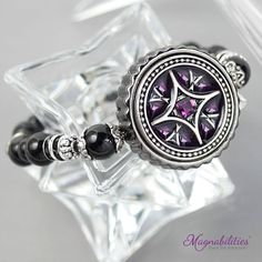 Magnabilities Stretch Bracelet w/ 1'' Insert - Vista. http://shellisa.magnabilities.com/party/10472