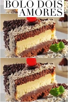 The two loves cake recipe is a layer of milk chocolate cream with another white chocolate. CLICK THE Cupcakes, Cupcake Cakes, Cake Recipes, Dessert Recipes, Desserts, Love Cake Recipe, Sweets Cake, Portuguese Recipes, Diy Cake