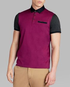 Ted Baker Pinkman Color Block Polo