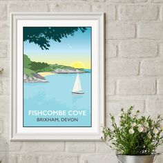 Fishcombe Cove, Brixham, Devon print by Tabitha Mary
