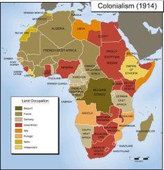 África colonial, 1914