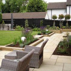 The ALDA Garden Design Portfolio - ALDA Landscapes Landscaping Retaining Walls, Backyard Landscaping, Small Garden Design, Patio Design, Outdoor Spaces, Outdoor Decor, Small Patio, Portfolio Design, Outdoor Gardens