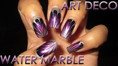 Fan Choice Friday | Art Deco Inspired | Water Marble March 2016 #7 | Nai...