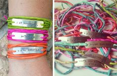 GroopDealz   Personalized Wrap Bracelets - Summer Colors!  by Little Painted Polka Dots