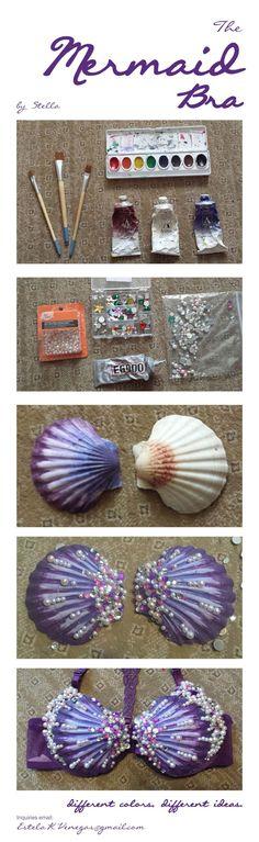 How to make a Mermaid Seashell Bra