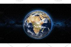 Realistic Earth Planet against the the star sky , City Lights At Night, Night City, Restaurant Website Templates, Star Background, Star Sky, Astronomy, Snow Globes, Planets, Earth