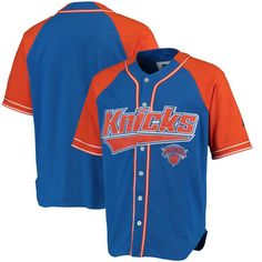 New York Knicks Starter Baseball Jersey - Royal Orange f7b7988b3