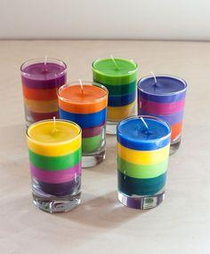 DIY: Crayon Candles #craft #crayola #recycled