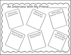 Friendship According to Kids Printable Interview