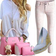 Outfit Casual e borsa carinissima
