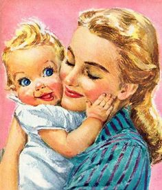 Roger Wilkerson, Babys First Sweetheart - detail from 1947 White House Evaporated Milk ad.