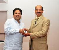 Dr. Panda & MP Rajeev Shukla Honour Braveheart Winners