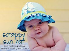Living with Punks: SYS ~ Scrappy Sun Hat free pattern and tutorial