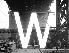 W in WSS (War Savings Stamps), Kent Avenue yard of the Williamsburg Bridge, 1918. S)