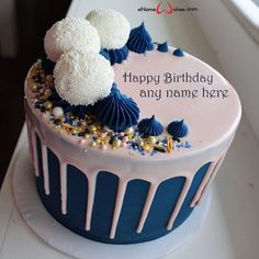 Write name on Happy Birthday Beautiful Cake Images with Name with Name And Wishes Images and create free Online And Wishes Images with name online.