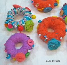 Alma Stoller: How to make Fabric Beads: Video Tutorial and Giveaway: STITCHED blog hop